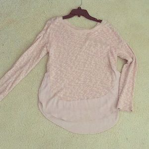 Blush Pink Anthropologie Sweater